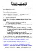 Antrag auf Erhalt des Flachter Häckselplatzes, Januar 2011
