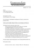 Antrag zur Auflösung der KommBau, November 2014