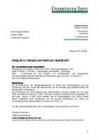 UL-Antrag zum Haushalt 2021: Anschaffung eines Balkenmähers