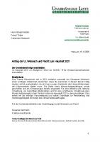 UL-Antrag zum Haushalt 2021: Budget für Klimaschutzmaßnahmen