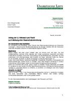 Antrag zur Erstellung einer Baumschutzverordnung, 22.04.2021
