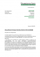 Antrag auf Verzicht der Durchsetzung der Forderung gegenüber Frau Kreutel und Herrn Haindl, 26.04.2021