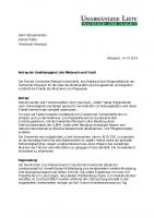 Antrag gegen das Mulchen von Wegesrainen im Wald, Februar 2020