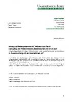 """Antrag: """"Sachstandsbericht über Geldanlagen und weiterführende Maßnahmen im Zusammenhang mit der Greensill Bank AG"""", 08.03.2021"""