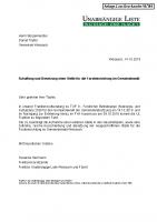 Antrag auf Schaffung und Besetzung einer Stelle für die Forsteinrichtung im Gemeindewald, Oktober 2019