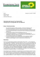 Überfraktioneller Antrag 9 zum Haushalt 2021: Verlängerung der Strohgäubahn bis nach Weissach