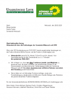 Überfraktioneller Antrag: Akteneinsicht über alle Geldanlagen der Gemeinde Weissach seit 2018, 28.03.2021