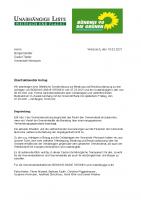 Überfraktioneller Antrag zu einer öffentlichen Sondersitzung zur Greensill-Pleite, 10.03.2021