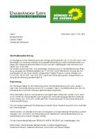 Überfraktioneller Antrag: Erneute Forderung nach einer öffentlichen Gemeinderatssitzung zur Greensill-Pleite, 11.03.2021