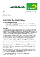 Überfraktioneller Antrag 10 zum Haushalt 2020 – Neuschaffung einer Stelle Klimaschutzbeauftragter
